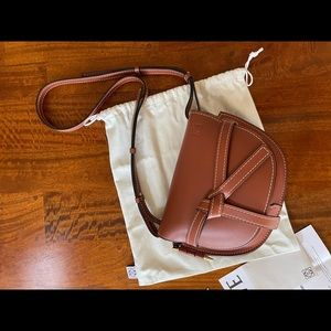 Loewe Small Gate bag in natural calfskin